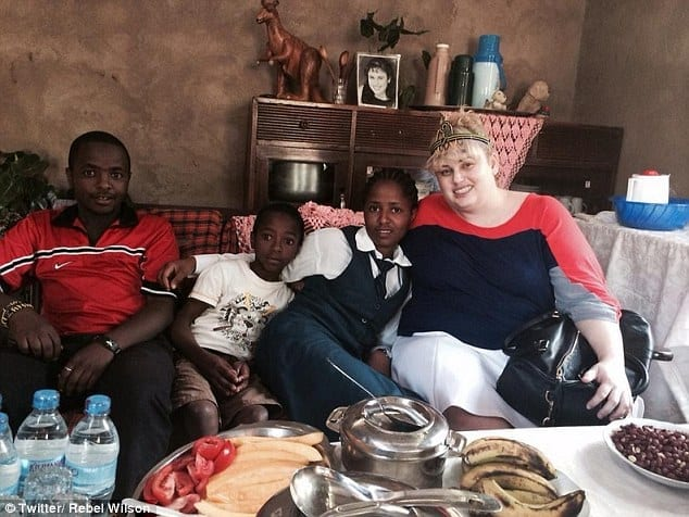 Reunion: Rebel Wilson visited sponsor child Winnie, who keeps Rebel's 2007 acting headshot on the mantlepiece