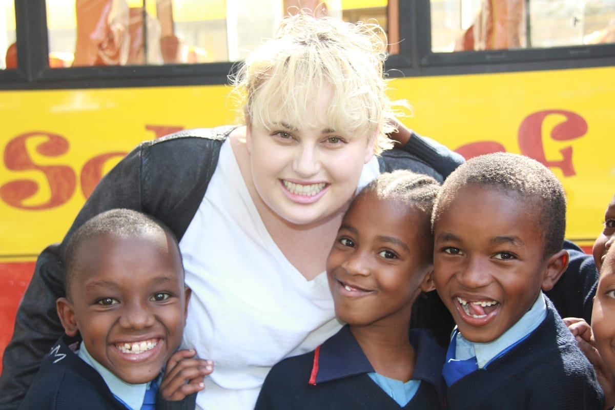 Rebel Wilson visits St Jude's, Meets Sponsored Student for First Time