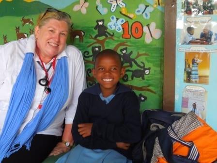 St Jude's sponsor Deborah Hewes and her sponsored student Salome