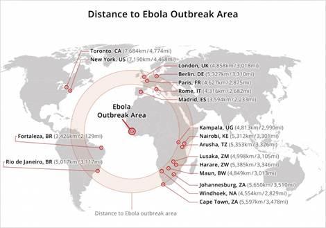 ebola world map