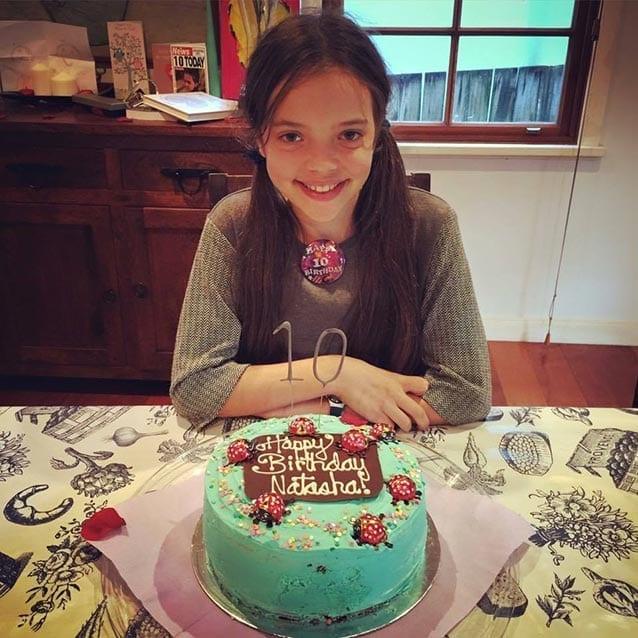 Wish granted: Australian Natasha raised $439 by asking friends to donate to St Jude's for her 10th birthday.