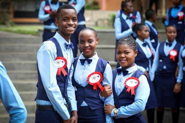 Major achievement: Graduating Form 4 is a big achievement in Tanzania and our students were dressed for the occasion.