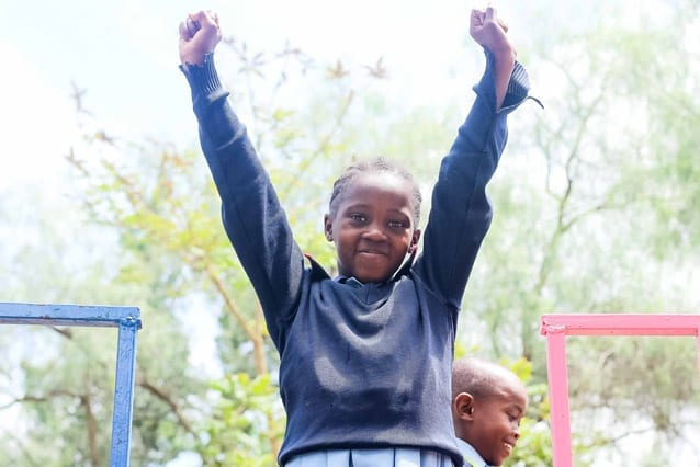 Success: Asha is going to use her education to become a doctor, a profession desperately needed in Tanzania.