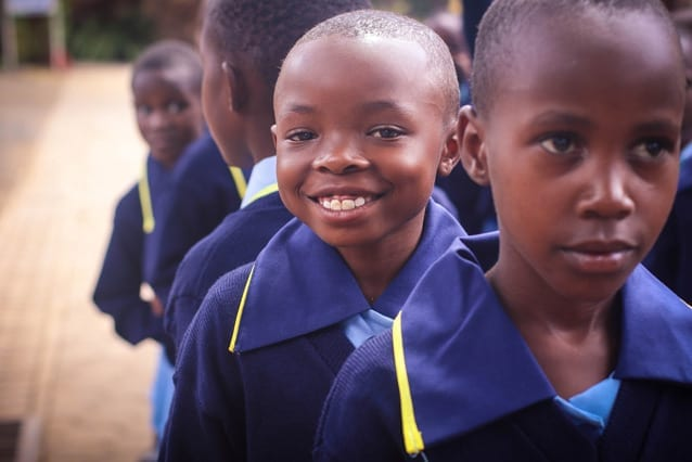 Reason to smile: The amazing generosity shown during our sponsorship appeal is inspiring the staff and students here in Tanzania.