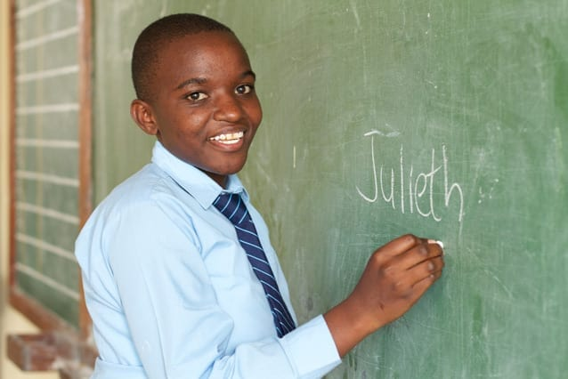 Dedicated student: This photo was taken of Julieth in 2011. Her 13 years at St Jude have instilled a spirit of giving back to the community.