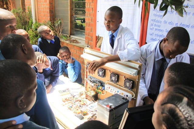 Inseparable innovators: Martin and Venance worked on their prize-winning remote household controller for over a year.