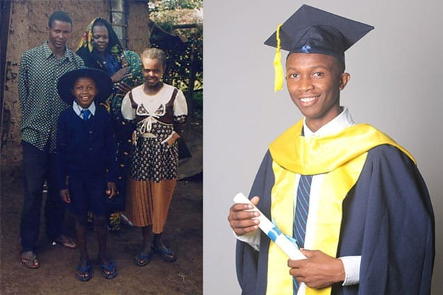 Reach for the stars: Enock treasures his 13 years of high-quality schooling at St Jude's, and has spent countless hours sharing it with his community.