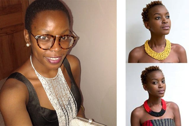 Showcasing style: Vivian and a model with some of her pieces.