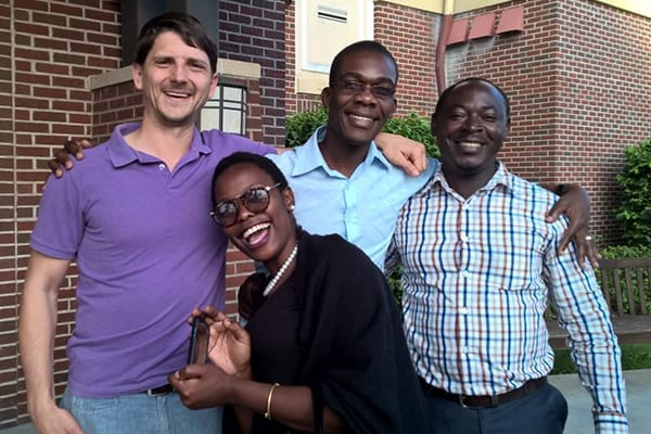 Upwardly mobile: Vivian with African Leadership Academy Partners.