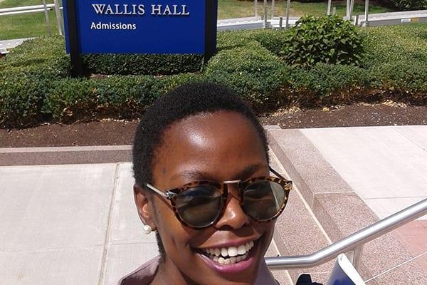 A strong sense of self-ie: Wallis Hall, University of Rochestor.