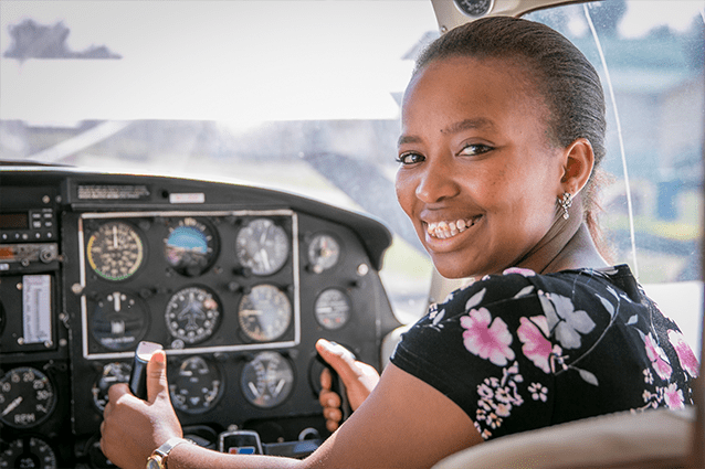 Flying spirit: Winrose is well on her way to realising her dream of becoming an aeronautical engineer.