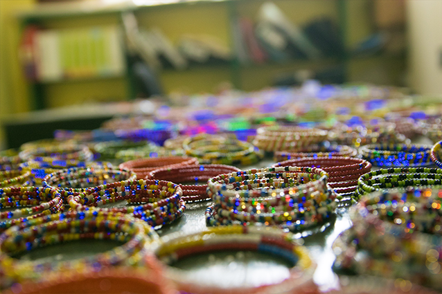 The spirit of Africa: The beads represent the colours of St Jude's and Tanzania.
