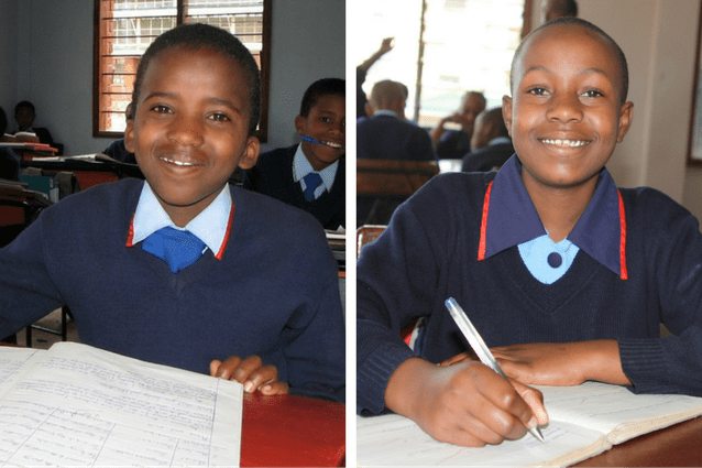 Flashback: This studious pair have called St Jude's home for a long time and are now ready to embark on their next step towards higher education.