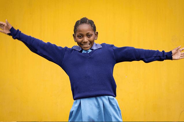 Lasting impact: Meg has sponsored Hadija since 2012.