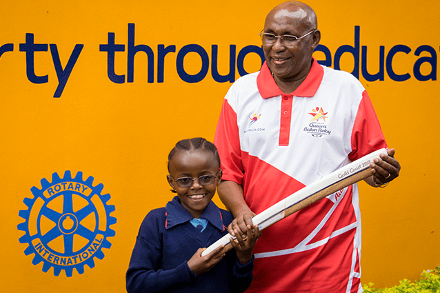 Inspiring our students: Filbert Bayi hopes to see a St Jude's student in the 2020 Commonwealth Games.