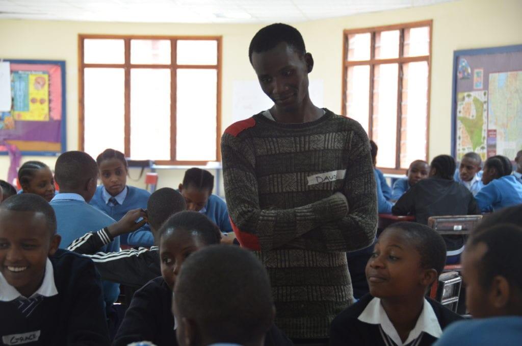 Building bridges: Beyond St Jude's intern, Daudi, brought students from Njiro Secondary School to RYLA.
