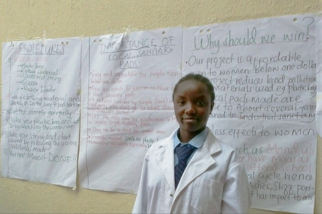 Kilimba's cause: A wish to help disadvantaged girls motivated Kilimba to take on the project.