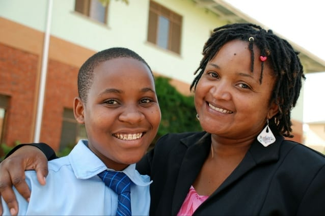 Marvellous mentor: Ms Pendo's been inspiring students like Dorice for years. Dorice intends to become a gynecologist.