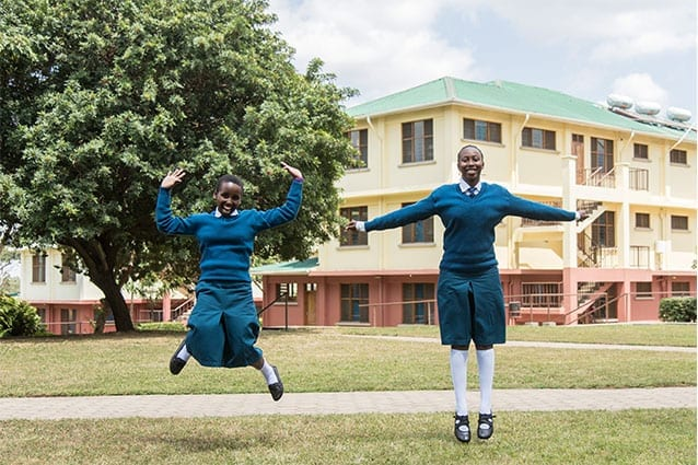 Friends flying high: The Form 5s have taken new students like Agness under their wings!