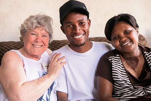 Long-awaited reunion: Janelle visited Octavia and Denis in their home, two days before Form 6 Graduation.