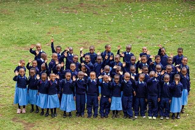 The newest members of the St Jude's family: Our new class of Standard 1's gather on the oval.
