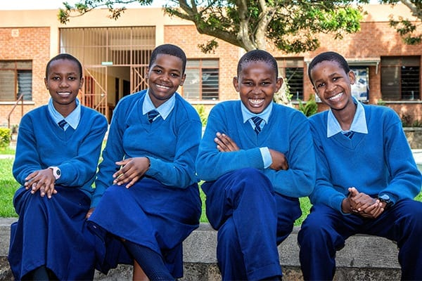 A Bright Future: New Form 1 students thriving at St Jude's.
