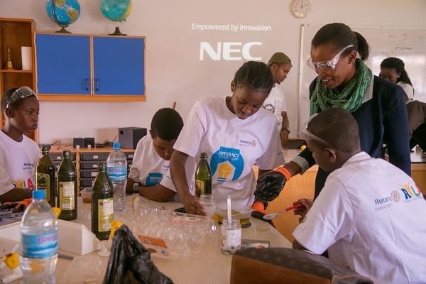 Interactive: Students try their hands at various skills in the Interact bootcamp workshops.