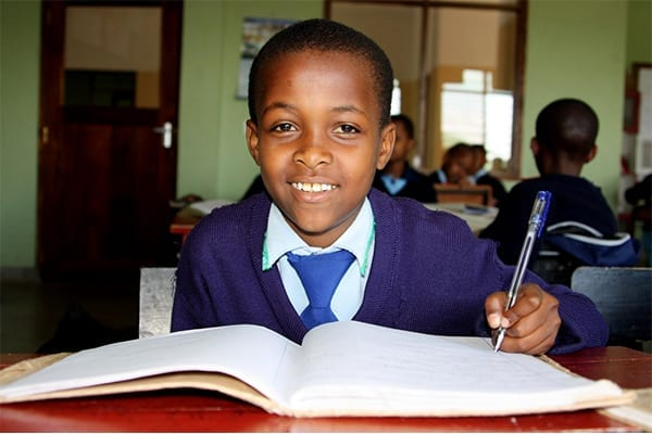 A Dream: Evance began school at St Jude's in 2009 after being selected from a pool of 1,500 students.