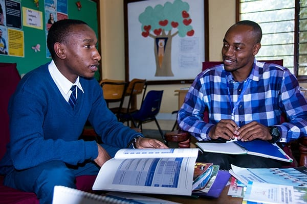The Next Step: Ojungo during a career guidance session with Guidance Coordinator, Mr Elibariki.