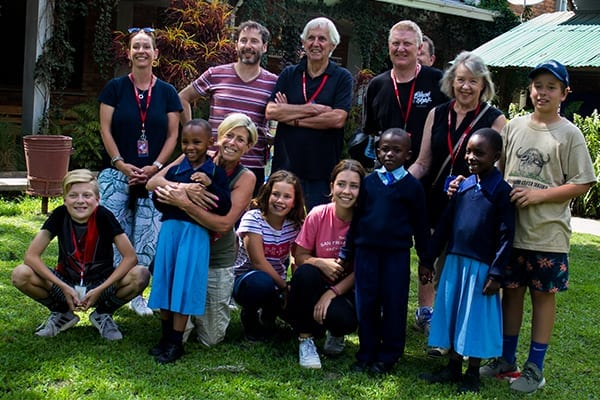 A trip of a lifetime: 12 members of the Moloney family visited St Jude's in Arusha.