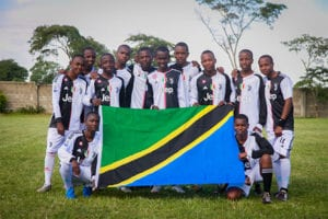 National Pride: Smith soccer players supporting the national Tanzanian during AFCON this month.