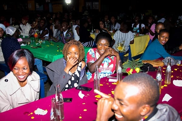 Reminiscing Old Times: Alumni enjoyed entertainment and speeches throughout the night.